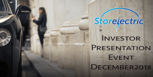 Storelectric Investor Event, December 2018