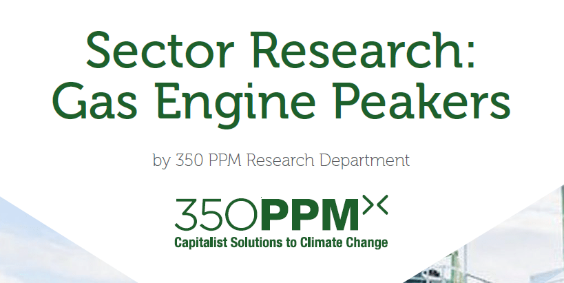 Sector Research – Gas Engine Peakers