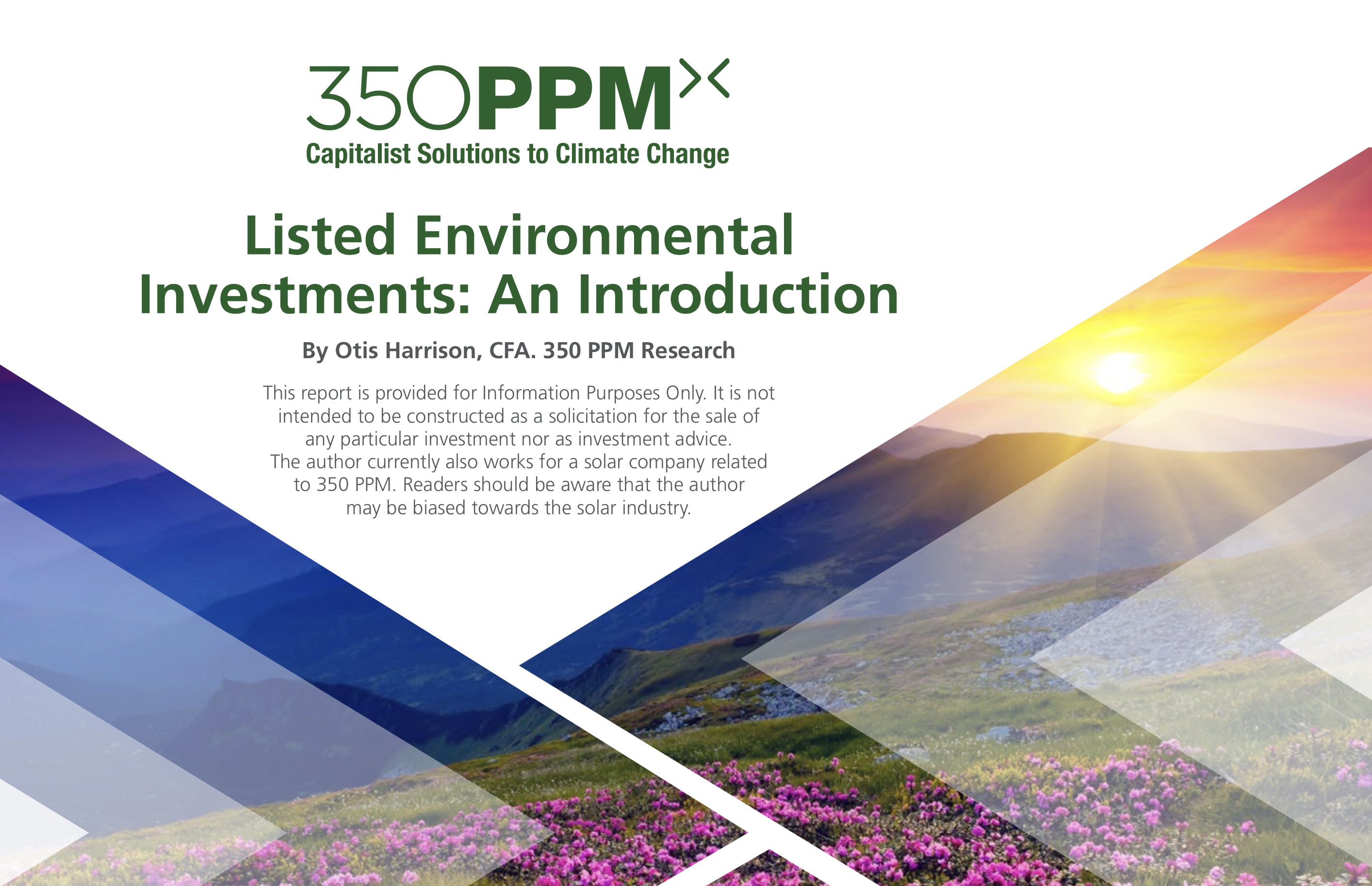 Sector Research: Listed Environmental Investments: An Introduction